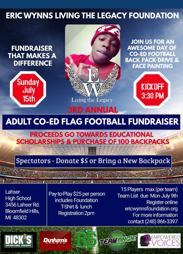 5x7 Flag Football Fundraiser